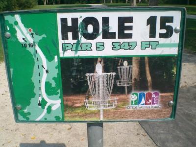 Lippold Park, Main course, Hole 15 Hole sign