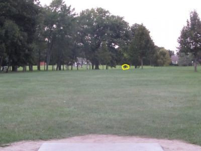 Firefighters Park, Main course, Hole 6 Tee pad