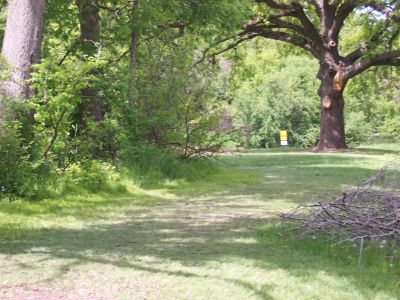 Prairie Park, Main course, Hole 3 Tee pad
