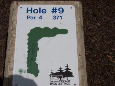 Prairie Park, Main course, Hole 9 Hole sign