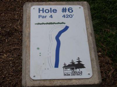 Prairie Park, Main course, Hole 6 Hole sign