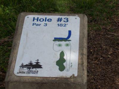 Prairie Park, Main course, Hole 3 Hole sign