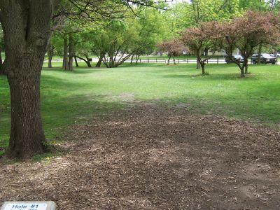 Prairie Park, Main course, Hole 1 Tee pad