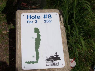 Prairie Park, Main course, Hole 8 Hole sign
