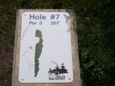 Prairie Park, Main course, Hole 7 Hole sign
