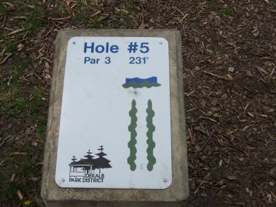 Prairie Park, Main course, Hole 5 Hole sign