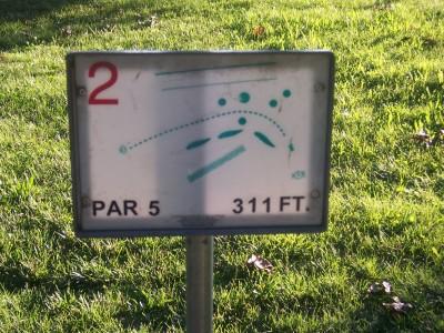 Effingham Disc Golf Course, Main course, Hole 2 Hole sign
