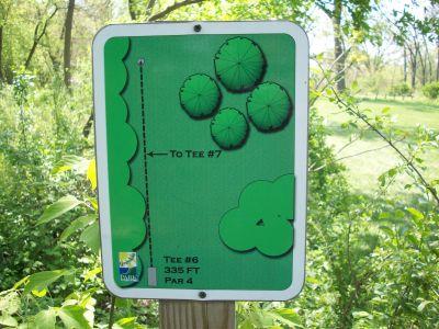 Central Park, Main course, Hole 6 Hole sign