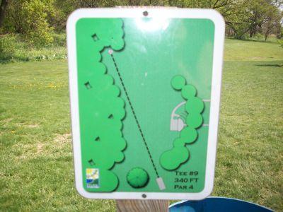 Central Park, Main course, Hole 9 Hole sign