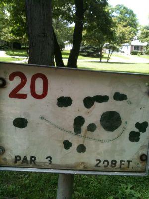 West Park, Main course, Hole 20 Tee pad
