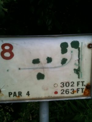 West Park, Main course, Hole 8 Tee pad