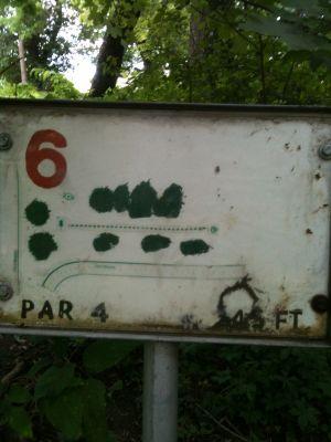 West Park, Main course, Hole 6 Tee pad