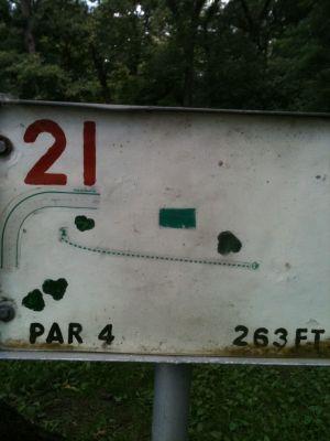 West Park, Main course, Hole 21 Tee pad