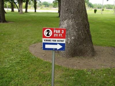 Chautauqua Park, Main course, Hole 2 Hole sign