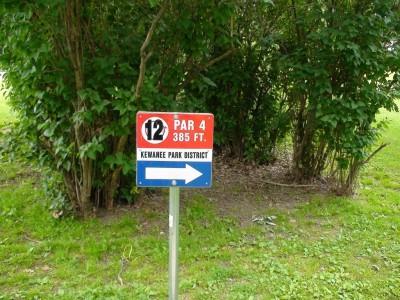 Chautauqua Park, Main course, Hole 12 Hole sign