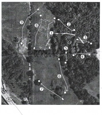 Longwood Centre Park, Main course, Hole 8 Tee pad