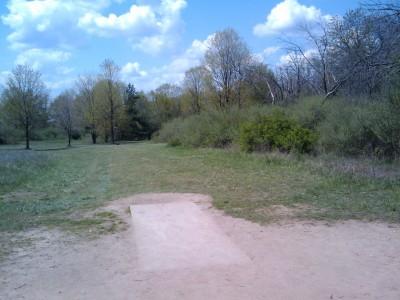 Stony Creek Metropark, Blue course, Hole 18 Tee pad