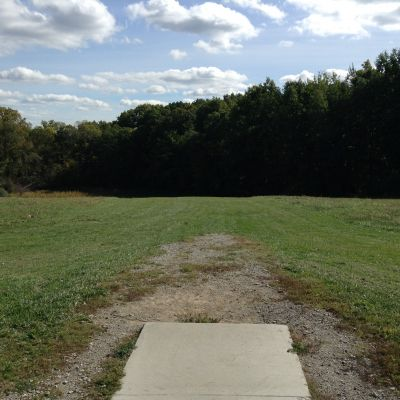 Stony Creek Metropark, Green course, Hole 9 Tee pad