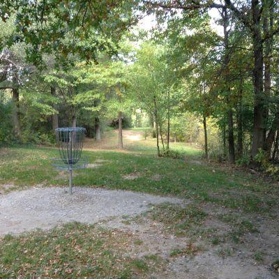 Stony Creek Metropark, Green course, Hole 7 Reverse (back up the fairway)