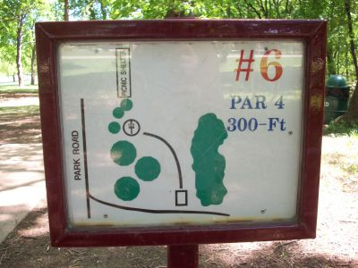 Adler Park, Main course, Hole 6 Hole sign