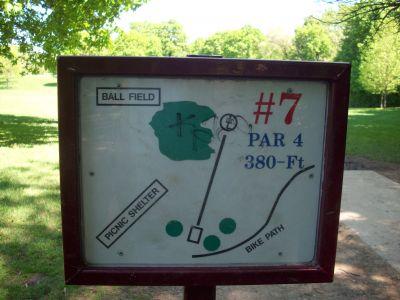 Adler Park, Main course, Hole 7 Hole sign