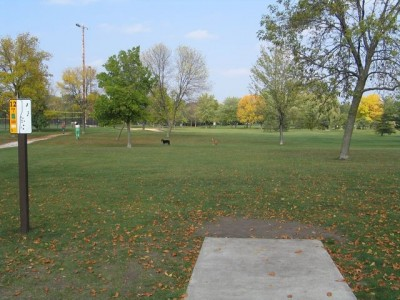 Madison Meadow Park, Main course, Hole 12 Tee pad