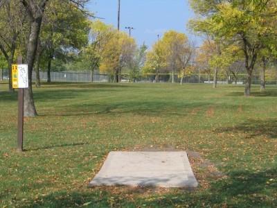 Madison Meadow Park, Main course, Hole 11 Tee pad