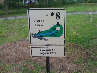 Prospect Park, Main course, Hole 8 Hole sign