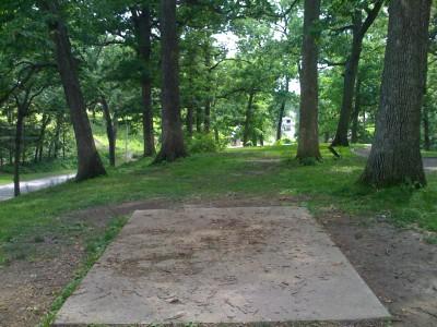 Prospect Park, Main course, Hole 13 Tee pad