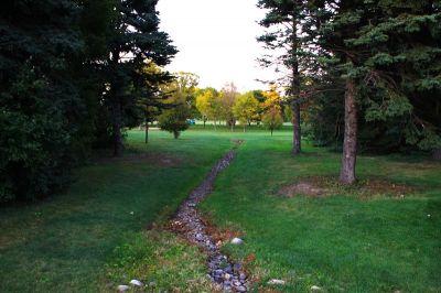 Central Park, Main course, Hole 9 Tee pad