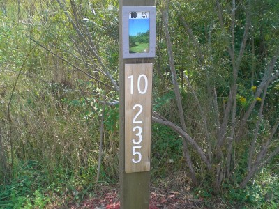 Eagle Ridge / Civic Center, Main course, Hole 10 Hole sign