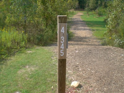 Eagle Ridge / Civic Center, Main course, Hole 4 Hole sign