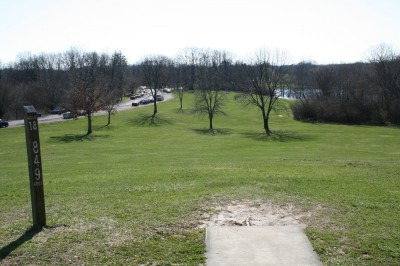 McNaughton Park, Main course, Hole 18 Tee pad