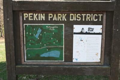 McNaughton Park, Main course, Hole 1 Hole sign