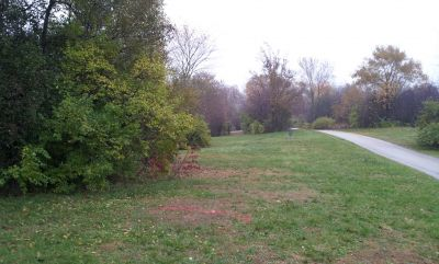 Woodlands, Main course, Hole 1 Long tee pad