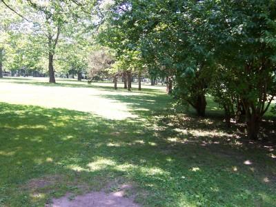 Sinnissippi Park, Main course, Hole 14 Tee pad