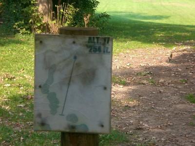 Shady Oaks Park, Main course, Hole 17 Hole sign
