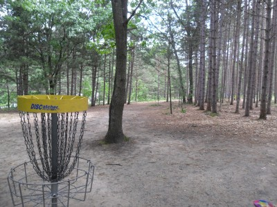 Whitehall Township DGC, Main course, Hole 1 Reverse (back up the fairway)