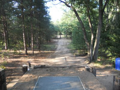 Whitehall Township DGC, Main course, Hole 8 Tee pad