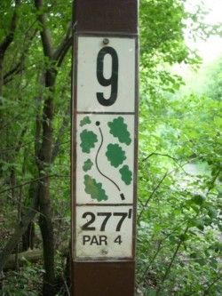 Summit Park, Main course, Hole 9 Hole sign