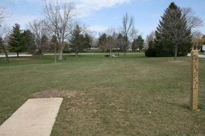 Washington Park, Main course, Hole 18 Tee pad