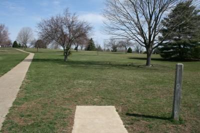 Washington Park, Main course, Hole 13 Tee pad
