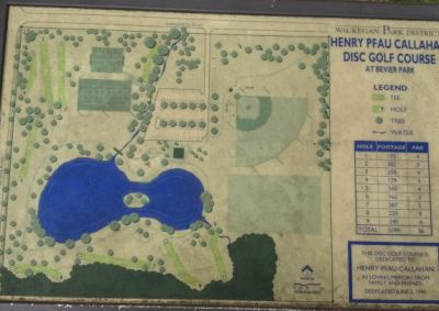 Bevier Park, Main course, Hole 1 Hole sign