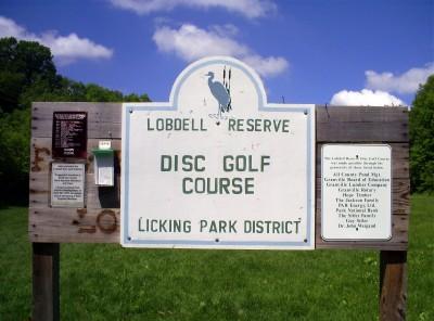 Lobdell Reserve, Main course, Hole 1 Hole sign