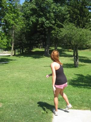 Lake Shore Park, Main course, Hole 3 Long tee pad