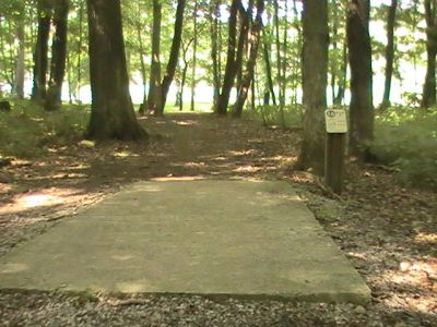 Pike Lake State Park, Main course, Hole 16 Tee pad