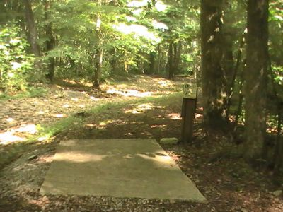 Pike Lake State Park, Main course, Hole 15 Tee pad