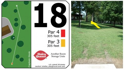 Mary Rutan, Main course, Hole 18 Tee pad