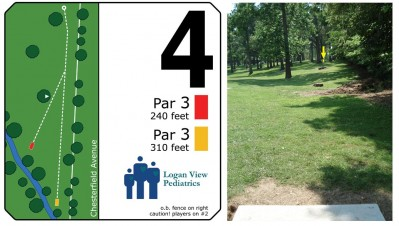 Mary Rutan, Main course, Hole 4 Long tee pad