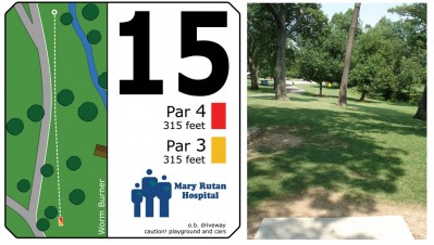 Mary Rutan, Main course, Hole 15 Tee pad